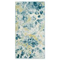 "Safavieh Watercolor 2'2"" x 4' Alexa Rug in Light Blue"