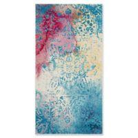 """Safavieh Watercolor 2'7"""" x 5' Nancy Rug in Light Blue"""