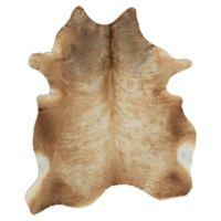 Rugs American Cowhide Animal Skin 6' x 8' Area Rug in Tan