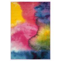 "Safavieh Watercolor 6'7"" x 9' Medley Rug in Green"