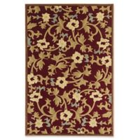 Rugs America Torino Bouquet 5'3 x 7'10 Area Rug in Red