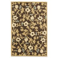Rugs America Torino Bouquet 7'10 x 10'10 Area Rug in Brown