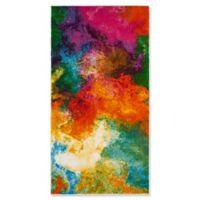 "Safavieh Watercolor 2'2"" x 4' Collage Rug in Orange"