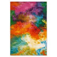 "Safavieh Watercolor 6'7"" x 9' Collage Rug in Orange"
