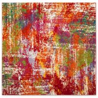 "Safavieh Watercolor 6'7"" x 6'7"" Callie Rug in Orange"