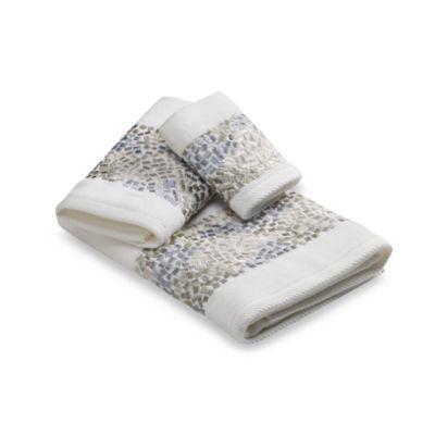 croscill spa tile fingertip towel - Fingertip Towels