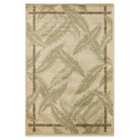 Rugs America Tropics Tranquil Bay 7'10 x 10'10 Area Rug in Beige