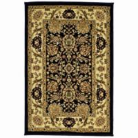 Rugs America New Vision Tabriz 2' x 2'11 Accent Rug in Black
