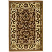 Rugs America New Vision Tabriz 2' x 2'11 Accent Rug in Brown