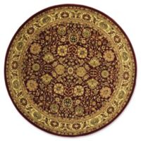 Rugs America New Vision Tabriz 5'3 Round Area Rug in Red