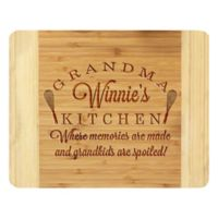 Stamp Out Grandma's Kitchen 11-Inch x 14-Inch Bamboo Cutting Board