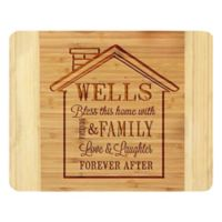 "Stamp Out ""Bless This Home"" House 11-Inch x 14-Inch Bamboo Cutting Board"