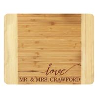 Stamp Out Mr. and Mrs. 11-Inch x 14-Inch Bamboo Cutting Board