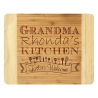 Stamp Out Grandma's Kitchen Tasters 11-Inch x 14-Inch Bamboo Cutting Board