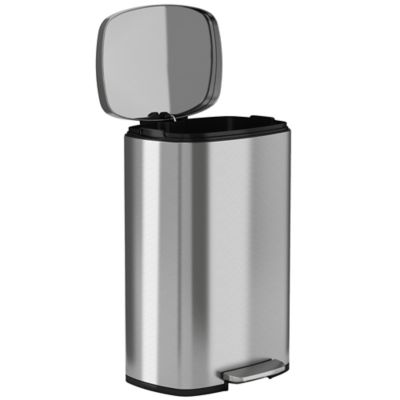 Halo™ Premium 50 Liter Stainless Steel Step Trash Can
