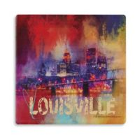 Thirstystone® Dolomite Sending Love to Louisville Square Single Coaster