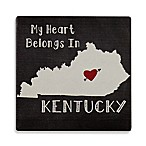 Thirstystone® My Heart Belongs to Kentucky Single Square Coaster