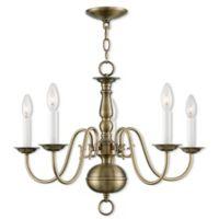 Livex Lighting® Williamsburg 5-Light Chandelier in Antique Brass