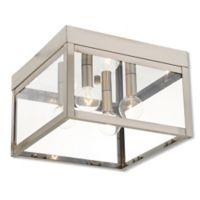 Livex Lighting® Nyack 4-Light Ceiling-Mount Outdoor Light in Bronze