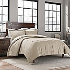 Garment Washed Solid Full/Queen Comforter Set in Dune