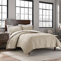 Garment Washed Solid Twin/Twin XL Comforter Set in Dune