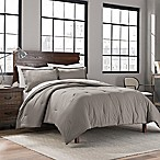 Garment Washed Solid Full/Queen Comforter Set in Fog