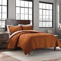 Garment Washed Cotton Solid Twin/Twin XL Comforter Set in Spice