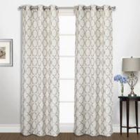 Georgia 63-Inch Grommet Top Window Curtain Panel Pair in Platinum