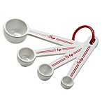 Cake Boss ™ Bistro Melamine 4-Piece Measuring Spoon Set in Red/White