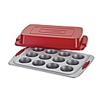Cake Boss™ Deluxe Nonstick 12-Cup Covered Muffin Pan in Grey