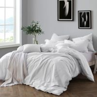 Swift Home Prewashed Yarn-Dyed Cotton Full/Queen Duvet Cover Set in Ivory