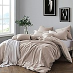 Swift Home Prewashed Yarn-Dyed Cotton Full/Queen Duvet Cover Set in Almond