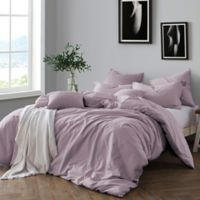 Swift Home Prewashed Yarn-Dyed Cotton Twin Duvet Cover Set in Lavender