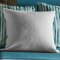 Frette At Home Versilia Square Throw Pillow in Grey