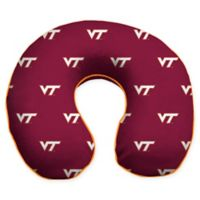 Virginia Tech University U-Neck Memory Foam Travel Pillow with Snap Closure