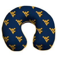 West Virginia University U-Neck Memory Foam Travel Pillow with Snap Closure