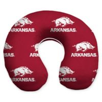 University of Arkansas U-Neck Memory Foam Travel Pillow with Snap Closure