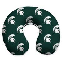 Michigan State University U-Neck Memory Foam Travel Pillow with Snap Closure