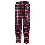 MLB Cleveland Indians Men's Small Flannel Plaid Pajama Pant with Left Leg Team Logo