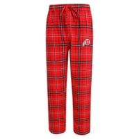University of Utah Men's X-Large Flannel Plaid Pajama Pant with Left Leg Team Logo