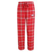 University of Arkansas Men's Small Flannel Plaid Pajama Pant with Left Leg Team Logo