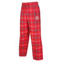 University of Maryland Men's Large Flannel Plaid Pajama Pant with Left Leg Team Logo