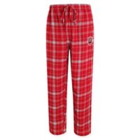 Indiana University Men's Medium Flannel Plaid Pajama Pant with Left Leg Team Logo
