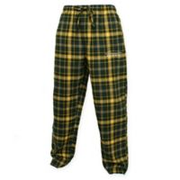 University of Oregon Men's Small Flannel Plaid Pajama Pant with Left Leg Team Logo