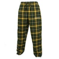 University of Oregon Men's Large Flannel Plaid Pajama Pant with Left Leg Team Logo