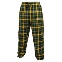 University of Oregon Men's 2XL Flannel Plaid Pajama Pant with Left Leg Team Logo