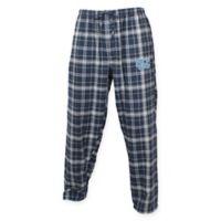 University of North Carolina Men's Small Flannel Plaid Pajama Pant with Left Leg Team Logo