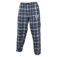University of North Carolina Men's Large Flannel Plaid Pajama Pant with Left Leg Team Logo