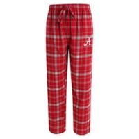 University of Alabama Men's 2XL Flannel Plaid Pajama Pant with Left Leg Team Logo