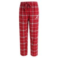 University of Alabama Men's Medium Flannel Plaid Pajama Pant with Left Leg Team Logo